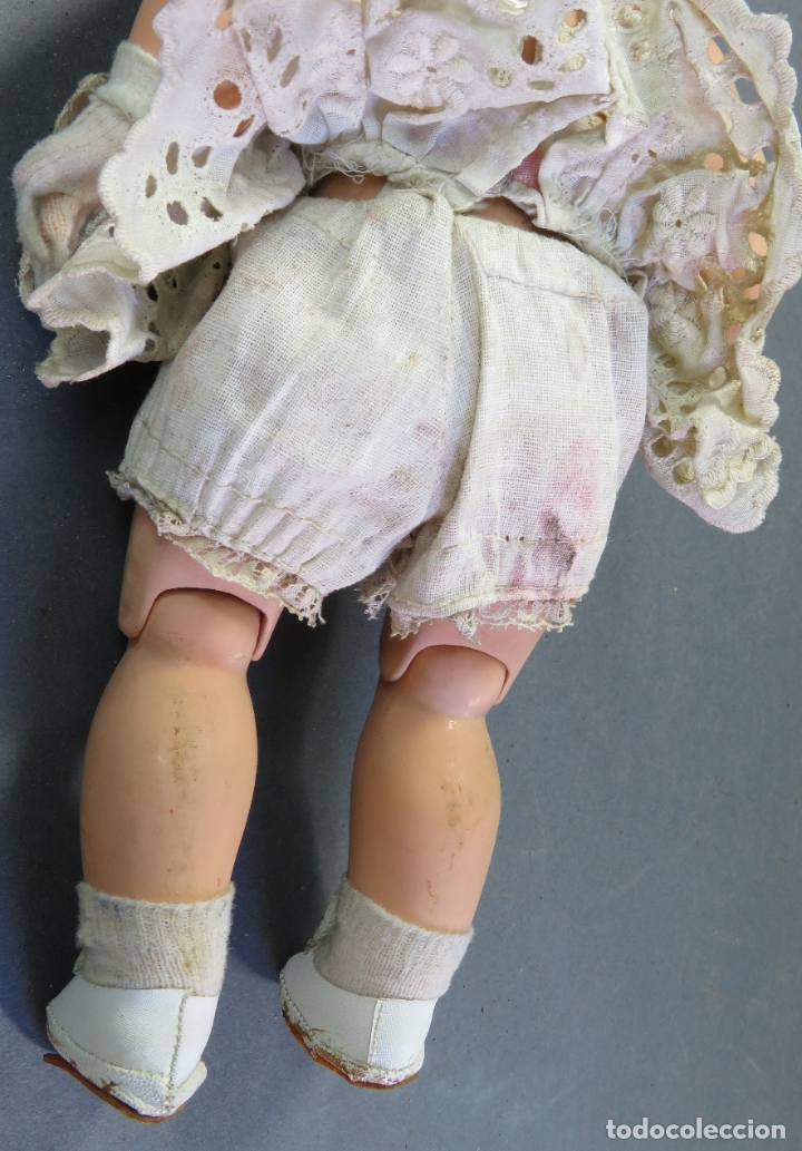 Muñeca española clasica: Angelita LEB celuloide articulada ojo durmiente ropa calzado original 28 cm alto - Foto 8 - 180952702