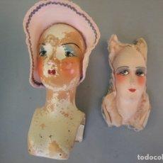 Muñeca española clasica: 2 CABEZAS DE MUÑECA BOUDOIR MUÑECAS DE SALON . Lote 181334906