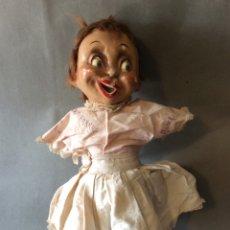 Muñeca española clasica: MUÑECA GROS CARTÓN PIEDRA AÑOS 40 ORIGINAL ÉPOCA. Lote 181435812