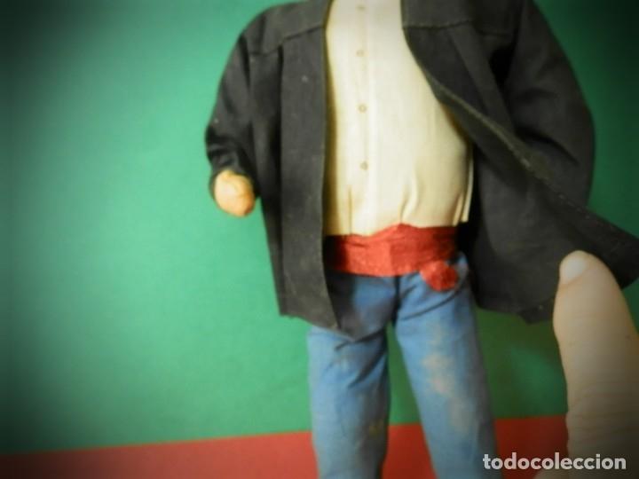 Muñeca española clasica: MUÑECO ANTIGUO VASCO REGIONAL FIELTRO TRAPO CON ALAMBRE 29 CENTIMETROS - Foto 5 - 181450771