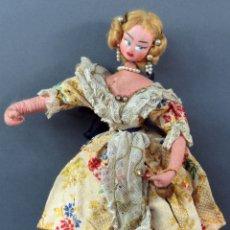 Bambola spagnola classica: MUÑECA TRAPO VALENCIANA FALLERA KUMPLE ROLDAN LAYNA VALENCIA AÑOS 50 30 CM ALTO. Lote 181492925