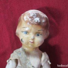 Muñeca española clasica: ANTIGUA MUÑECA CARTON PIEDRA, POSGUERRA. Lote 181876353