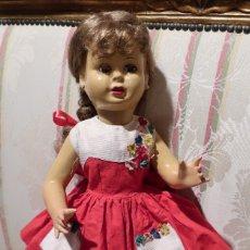 Muñeca española clasica: ANTIGUA MUÑECA VIVIANA DE CARTON PIEDRA, 47CM. VESTIDO ORIGINAL - DOLL,POUPÉE. Lote 182113297
