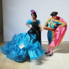 Muñeca española clasica: CONJUNTO DE BAILAORA Y TORERO. MARIN, CHICLANA. PERFECTO ESTADO. 30CM ALTO. VER FOTOS. . Lote 182264786