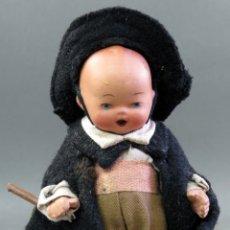 Muñeca española clasica: MUÑECO TERRACOTA TRAJE REGIONAL CAPA SEGOVIA CASTELLANO 13 CM . Lote 182279108