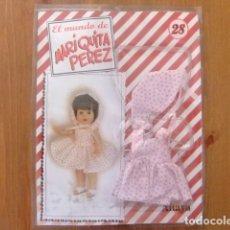 Muñeca española clasica: MARIQUITA PÉREZ VESTIDO ESTAMPADO CON FLORES FASCÍCULO 28. Lote 182593678