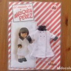Muñeca española clasica: MARIQUITA PÉREZ ABRIGO BLANCO DE ENTRETIEMPO FASCÍCULO 46. Lote 182594273
