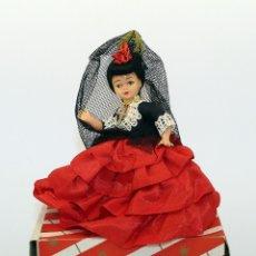 Muñeca española clasica: ANTIGUA MUÑECA FLAMENCA CON MANTILLA Y PEINETA - CELULOIDE - AÑOS 50 / 60 - NUEVA Y EN SU CAJA. Lote 182983307