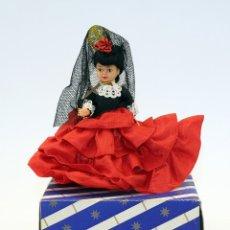 Muñeca española clasica: ANTIGUA MUÑECA FLAMENCA CON MANTILLA Y PEINETA - CELULOIDE - AÑOS 50 / 60 - NUEVA Y EN SU CAJA. Lote 182983347