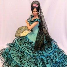 Muñeca española clasica: MUÑECA GITANA ANTIGUA DE MARIN GIGANTE DE 68 CM. Lote 183514387