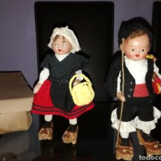 Muñeca española clasica: PAREJA DE MUÑECOS DE TERRACOTA GALLEGOS. Lote 184089120