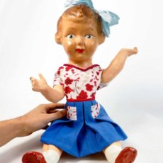 Muñeca española clasica: ANTIGUA MUÑECA PEPONA GIGANTE DE CARTÓN. 58CM.. Lote 212768788