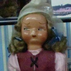 Boneca espanhola clássica: MUÑECA HOLANDESA TERRACOTA Y TRAPO MARCA VIRGILI PARECIDA A MARI PEPA 17 CM. ALTURA AÑOS 30. Lote 188498160