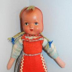 Muñeca española clasica: MUY BONITA MUÑECA CARA EN CELULODE Y CUERPO DE FIELTRO. Lote 188590541