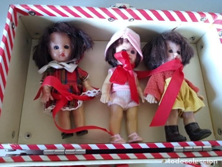 Muñeca española clasica: maletin con 6 muñecas mariquita perez - Foto 5 - 188794027