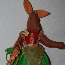 Muñeca española clasica: ANTIGUA MUÑECA DE FIELTRO Y TELA - RATITA - AÑOS 40-50. Lote 189983250