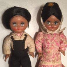 Muñeca española clasica: PRECIOSA PAREJA CHULAPOS LINDA PIRULA OJOS AZUL CELESTE FLYRTI BONITAS PESTAÑAS TODO ORIGINAL. Lote 190536088