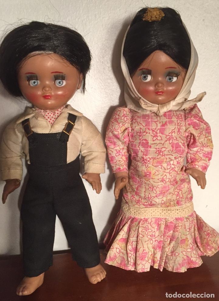 Muñeca española clasica: Preciosa pareja chulapos Linda Pirula ojos azul celeste flyrti bonitas pestañas todo original - Foto 2 - 190536088