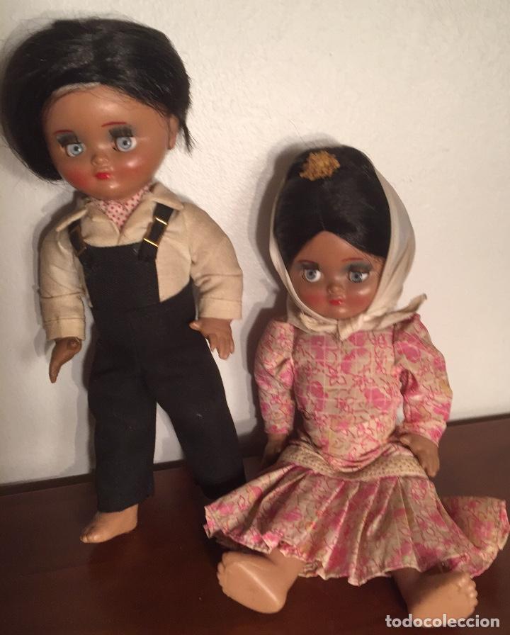 Muñeca española clasica: Preciosa pareja chulapos Linda Pirula ojos azul celeste flyrti bonitas pestañas todo original - Foto 3 - 190536088