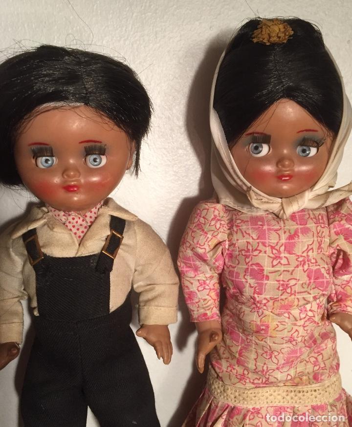 Muñeca española clasica: Preciosa pareja chulapos Linda Pirula ojos azul celeste flyrti bonitas pestañas todo original - Foto 5 - 190536088