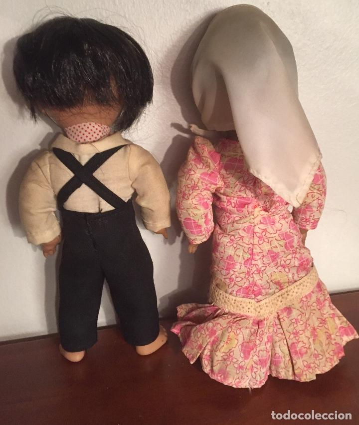 Muñeca española clasica: Preciosa pareja chulapos Linda Pirula ojos azul celeste flyrti bonitas pestañas todo original - Foto 6 - 190536088
