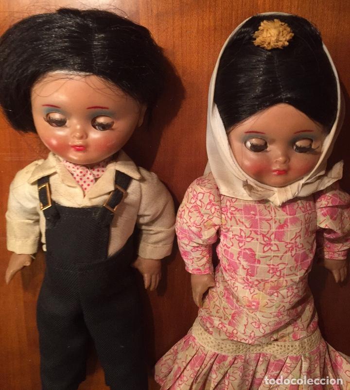 Muñeca española clasica: Preciosa pareja chulapos Linda Pirula ojos azul celeste flyrti bonitas pestañas todo original - Foto 7 - 190536088