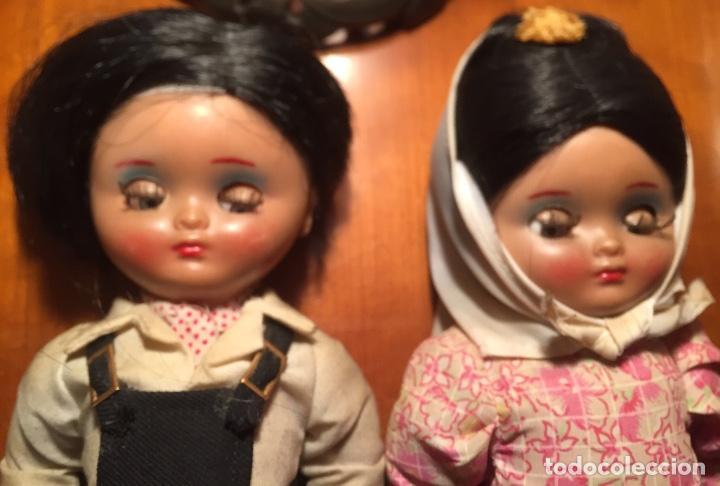 Muñeca española clasica: Preciosa pareja chulapos Linda Pirula ojos azul celeste flyrti bonitas pestañas todo original - Foto 8 - 190536088
