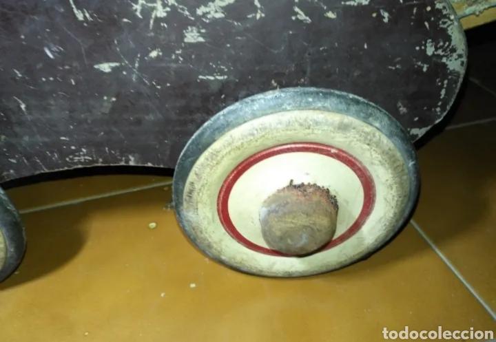 Muñeca española clasica: Antiguo Cochecito madera muñeca para restaurar - Foto 9 - 190833552