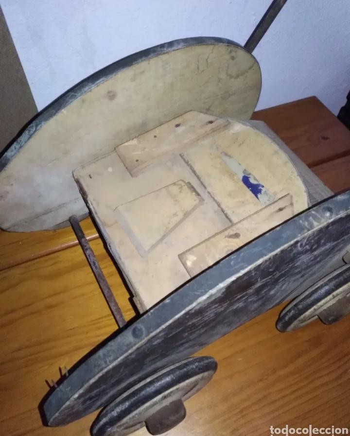 Muñeca española clasica: Antiguo Cochecito madera muñeca para restaurar - Foto 11 - 190833552