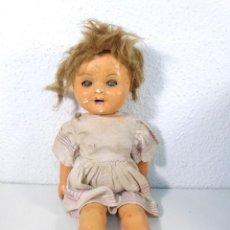Muñeca española clasica: MUÑECA DE CARTON PIEDRA AÑOS 40. Lote 191481457