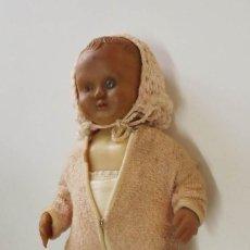 Muñeca española clasica: MUÑECO DE LOS AÑOS 30. ROPA ORIGINAL. ALTURA 29 CM. Lote 191614896