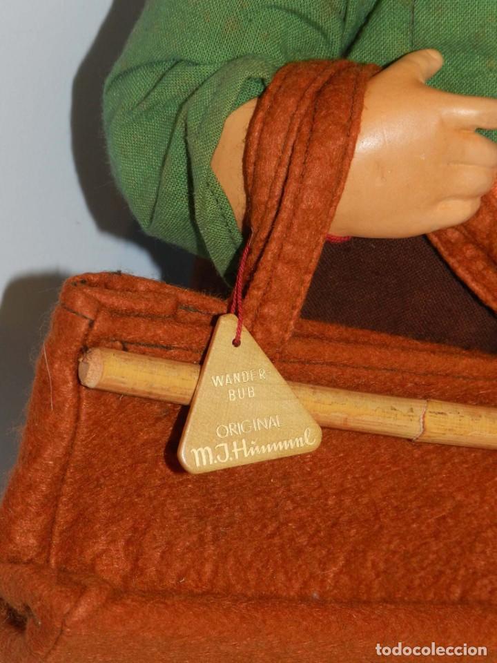 Muñeca española clasica: Antiguo muñeco M. J Hummnl, años 40. con etiqueta. Ojo y pelo decorado, la cabeza por detras tiene u - Foto 4 - 191633638
