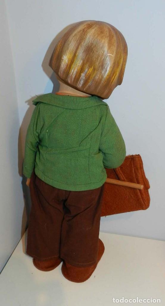 Muñeca española clasica: Antiguo muñeco M. J Hummnl, años 40. con etiqueta. Ojo y pelo decorado, la cabeza por detras tiene u - Foto 7 - 191633638