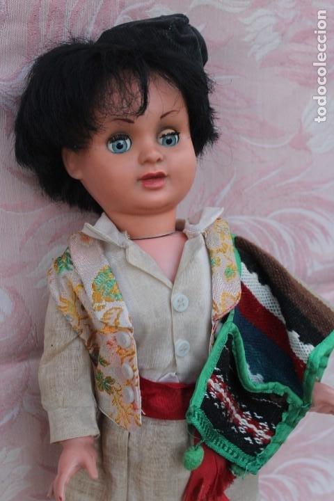 Muñeca española clasica: MUÑECA CHICO VESTIDO TRAJE REGIONAL HUERTANO MURCIA VALENCIA TERESIN MARCA EDA DURA 60 ??? - Foto 2 - 192656653