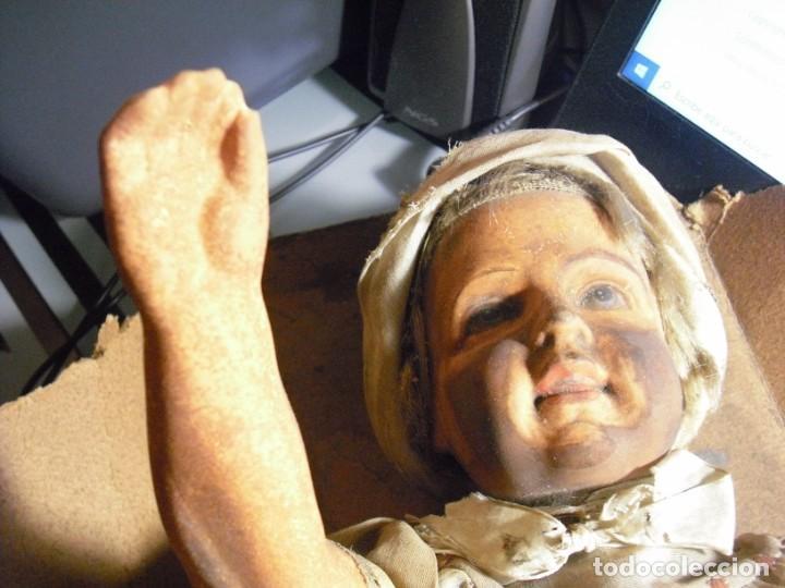 Muñeca española clasica: Salida hoy de un antiguo almacen allì ha estado desde los años 40,,jamàs tocada,totalmente original, - Foto 14 - 147185610