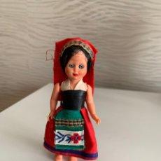 Muñeca española clasica: MUÑECA ANTIGUA. OJOS DURMIENTES. PLÁSTICO DURO. 12 CM. Lote 193550453