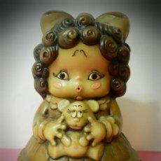 Muñeca española clasica: FIGURA MUÑECA O NIÑA MARCA JIAL MODELO REGISTRADOS Y FABRICADO EN ESPAÑA. 20 CENTIMETROS. Lote 193642377