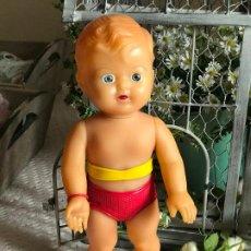 Muñeca española clasica: MUÑECO DE GOMA CREO QUE QUIQUE DE NEMROD RARO DE BUZO. Lote 193760040