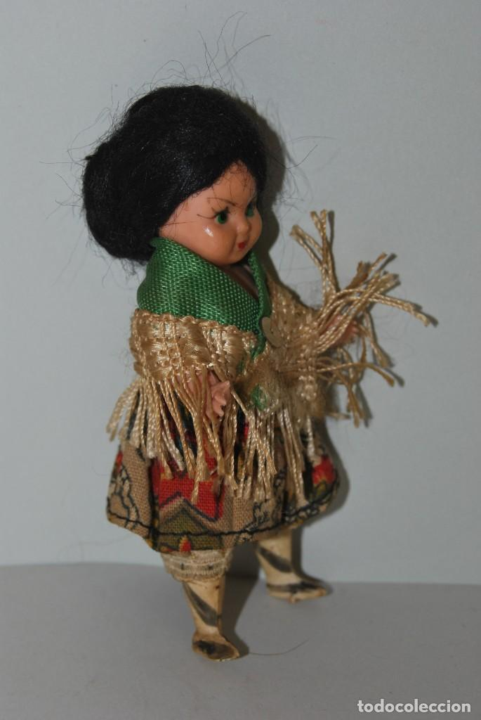 Muñeca española clasica: MUÑECA DE CELULOIDE - VESTIDO POPULAR - AÑOS 50 - Foto 2 - 193781040