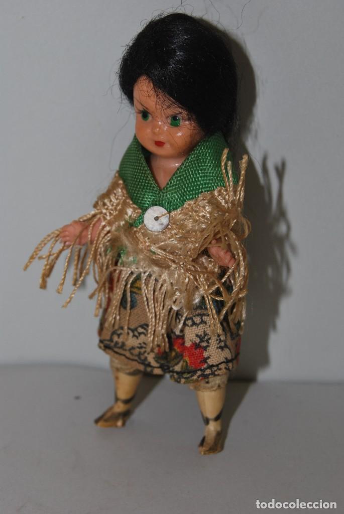 Muñeca española clasica: MUÑECA DE CELULOIDE - VESTIDO POPULAR - AÑOS 50 - Foto 4 - 193781040