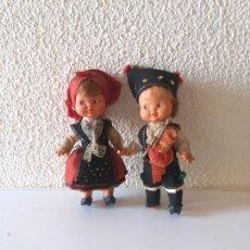 Muñeca española clasica: PAREJA ASTURIANOS TRAJE REGIONAL. ASTURIAS.MUÑECA.GIJON. Lote 193786180