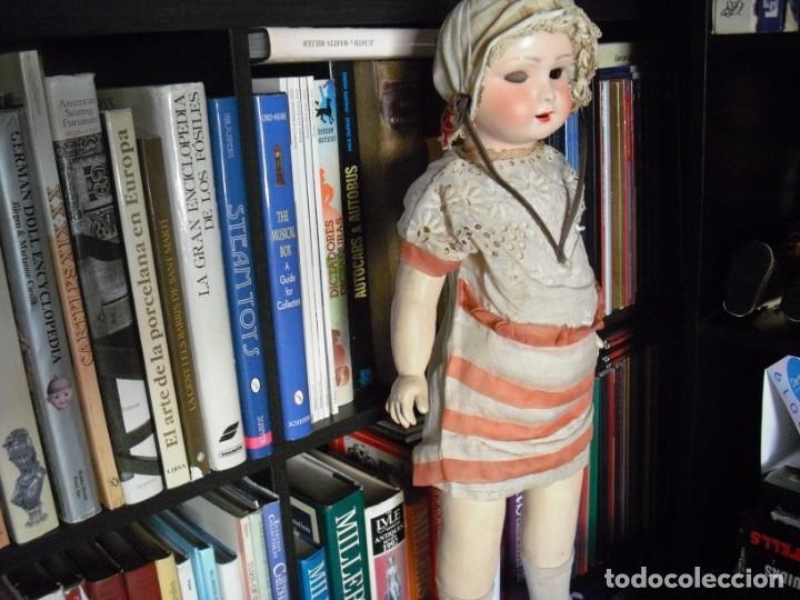 Muñeca española clasica: Muñeca catalana1920 vestido todo de origen, cabeza porcelana,cuerpo machè,,60 cms,ojos dentro cabez - Foto 2 - 194302268