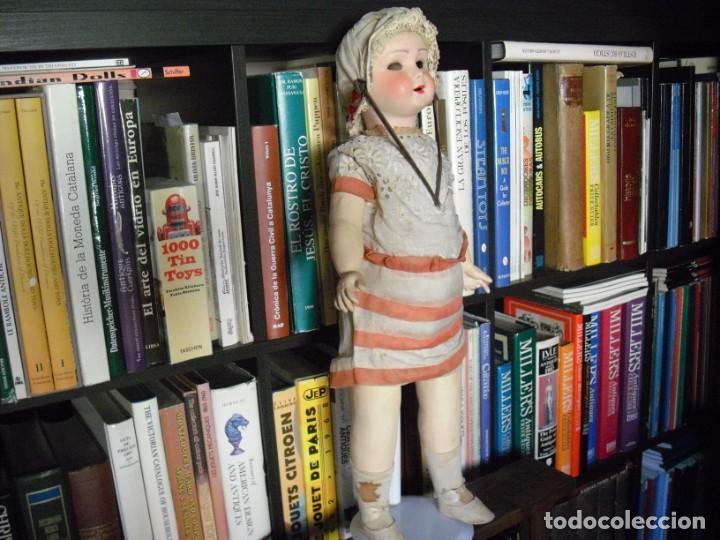 Muñeca española clasica: Muñeca catalana1920 vestido todo de origen, cabeza porcelana,cuerpo machè,,60 cms,ojos dentro cabez - Foto 3 - 194302268