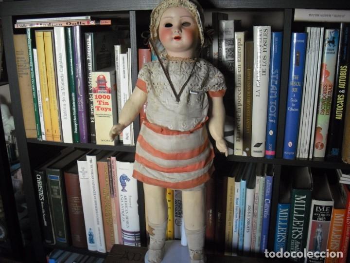 Muñeca española clasica: Muñeca catalana1920 vestido todo de origen, cabeza porcelana,cuerpo machè,,60 cms,ojos dentro cabez - Foto 4 - 194302268