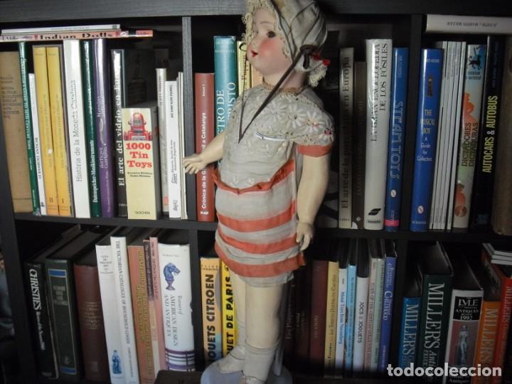 Muñeca española clasica: Muñeca catalana1920 vestido todo de origen, cabeza porcelana,cuerpo machè,,60 cms,ojos dentro cabez - Foto 5 - 194302268