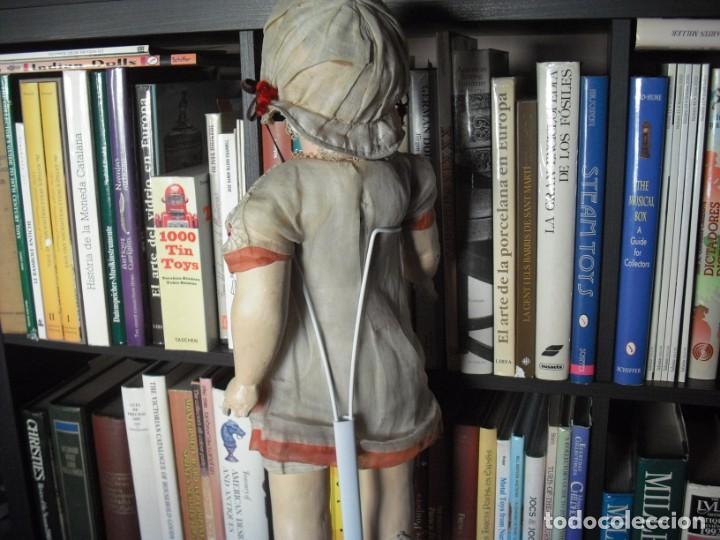 Muñeca española clasica: Muñeca catalana1920 vestido todo de origen, cabeza porcelana,cuerpo machè,,60 cms,ojos dentro cabez - Foto 6 - 194302268