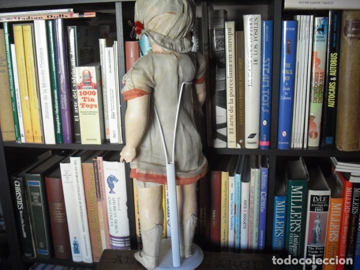 Muñeca española clasica: Muñeca catalana1920 vestido todo de origen, cabeza porcelana,cuerpo machè,,60 cms,ojos dentro cabez - Foto 7 - 194302268