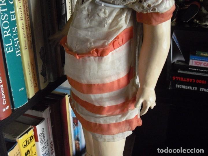 Muñeca española clasica: Muñeca catalana1920 vestido todo de origen, cabeza porcelana,cuerpo machè,,60 cms,ojos dentro cabez - Foto 9 - 194302268