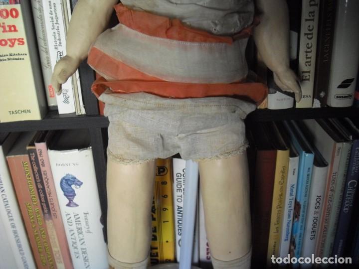 Muñeca española clasica: Muñeca catalana1920 vestido todo de origen, cabeza porcelana,cuerpo machè,,60 cms,ojos dentro cabez - Foto 10 - 194302268