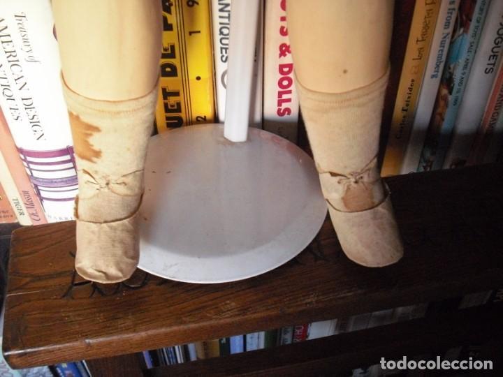Muñeca española clasica: Muñeca catalana1920 vestido todo de origen, cabeza porcelana,cuerpo machè,,60 cms,ojos dentro cabez - Foto 11 - 194302268